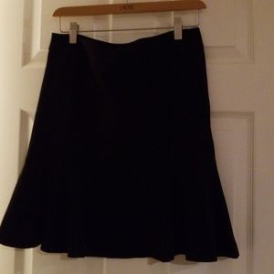 Black swing skirt